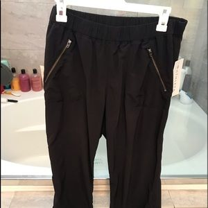 Athleta dance studio style pants black size 12